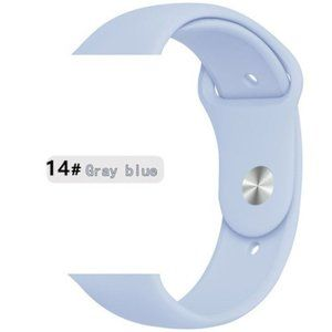 NEW Gray Blue Sport Silicone For Apple Watch